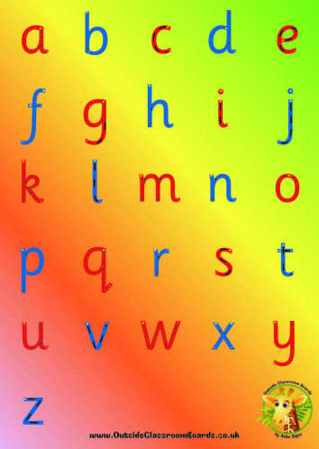 letter formation poster board rainbow alternative letter