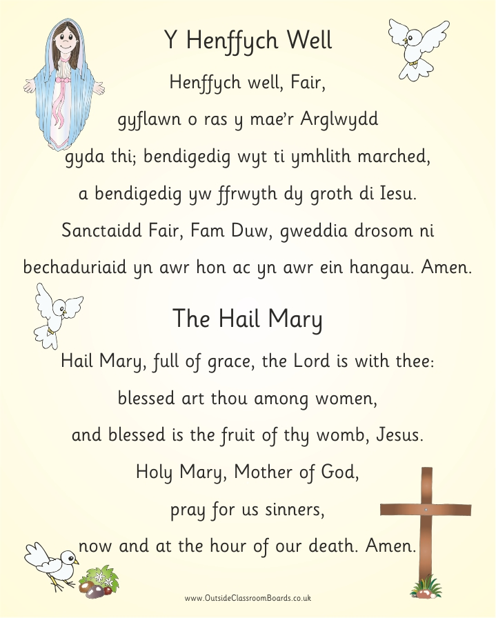 Bilingual Welsh Hail Mary | Welsh Specific Resources